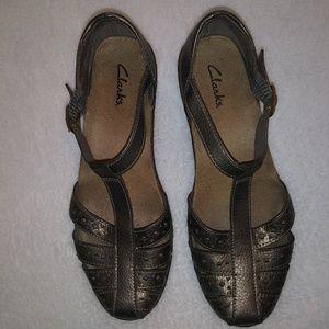 Clarks t-strap shoes